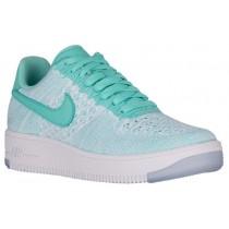 Nike Air Force 1 Low Flyknit Femmes baskets vert clair/blanc UMJ467