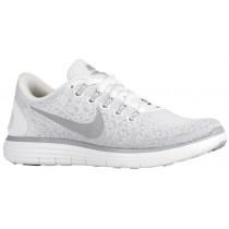 Nike Free RN Distance Femmes chaussures blanc/gris MET042
