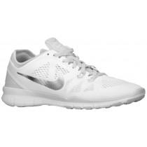 Nike Free 5.0 TR Fit 5 Femmes chaussures de course blanc/gris JJJ881