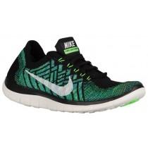 Nike Free 4.0 Flyknit Femmes chaussures noir/vert clair VJP521