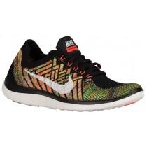 Nike Free 4.0 Flyknit Femmes sneakers noir/Orange NLC982