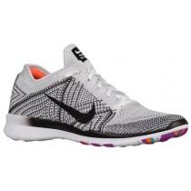 Nike Free TR 5 Flyknit Femmes chaussures de sport blanc/gris LOJ868