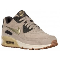 Nike Air Max 90 Femmes chaussures de course bronzage/or ENG488