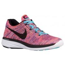 Nike Flyknit Lunar 3 Femmes baskets rose/bleu clair QRI313