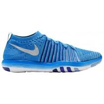Nike Free Transform Flyknit Femmes chaussures bleu clair/blanc KCV385