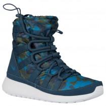 Nike Roshe One Hi Print Winterized SneakerbootFemmes chaussures bleu marin/vert foncé UQS339