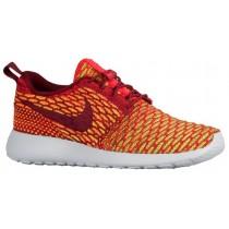 Nike Roshe One Flyknit Femmes chaussures de sport Orange/blanc HCZ568
