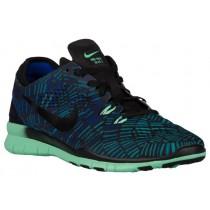 Nike Free 5.0 TR Fit 5 Femmes chaussures de course noir/vert clair QBK354