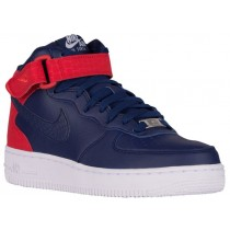 Nike Air Force 1 '07 Mid Femmes chaussures bleu marin/rouge JTL446