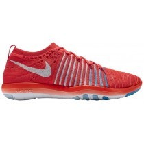 Nike Free Transform Flyknit Femmes chaussures de course rouge/blanc YOB819