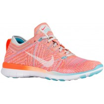Nike Free TR 5 Flyknit Femmes baskets Orange/blanc HJY052