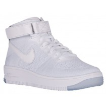 Nike Air Force 1 Hi Flyknit Femmes baskets blanc/gris OOM247