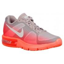 Nike Air Max Sequent Femmes chaussures de course Orange/blanc BRI774