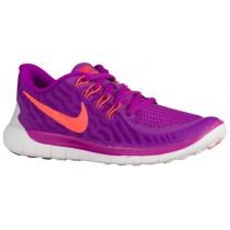 Nike Free 5.0 2015 Femmes chaussures de course violet/Orange OTP433