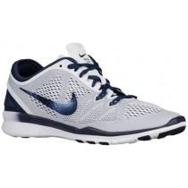 Nike Free 5.0 TR Fit 5 Femmes chaussures de sport blanc/bleu marin BGC298