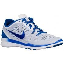 Nike Free 5.0 TR Fit 5 Femmes chaussures de course blanc/bleu SHZ866