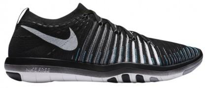 Nike Free Transform Flyknit Femmes chaussures de sport noir/argenté QNR859