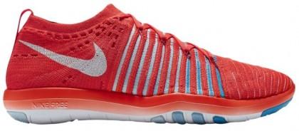 Nike Free Transform Flyknit Femmes chaussures de course rouge/blanc YOB819