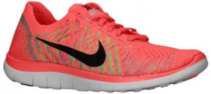 Nike Free 4.0 Flyknit Femmes baskets rouge/vert clair DQB906