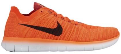 Nike Free RN Flyknit Hommes chaussures de sport Orange/noir XKC818