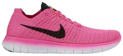 Nike Free RN Flyknit Femmes chaussures de sport rose/Orange WXZ525