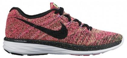 Nike Flyknit Lunar 3 Femmes chaussures de sport rouge/noir MKP527