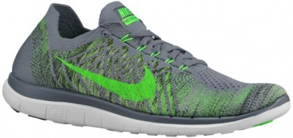 Nike Free 4.0 Flyknit 2015 Hommes chaussures gris/noir QIG663