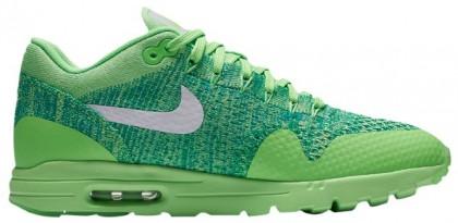 Nike Air Max 1 Ultra FlyknitFemmes chaussures de course vert clair/blanc EVA018