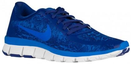 Nike Free 5.0 V4 Femmes chaussures bleu/blanc KTS361