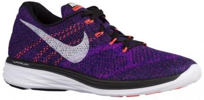 Nike Flyknit Lunar 3 Hommes chaussures de course noir/violet MYY330