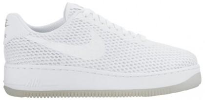 Nike Air Force 1 Low Upstep BR Femmes baskets blanc/gris GFF449