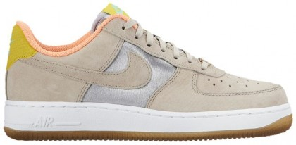 Nike Air Force 1 '07 Mid Premium Femmes baskets argenté/bronzage YEB194