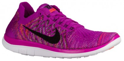 Nike Free 4.0 Flyknit Femmes chaussures de course violet/rose CWN136