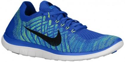Nike Free 4.0 Flyknit 2015 Hommes chaussures de sport bleu/bleu clair YGI646