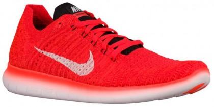 Nike Free RN Flyknit Hommes baskets Orange/noir MTU038