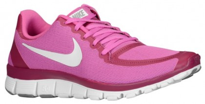 Nike Free 5.0 V4 Femmes chaussures de course rose/blanc JYC185