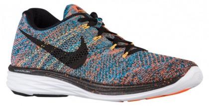 Nike Flyknit Lunar 3 Hommes baskets Orange/bleu clair SMK609