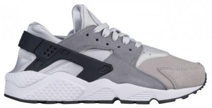 Nike Air Huarache Suede Premium Femmes chaussures de course gris/noir LFU218