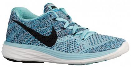 Nike Flyknit Lunar 3 Femmes sneakers bleu clair/noir VLD628