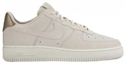 Nike Air Force 1 '07 Low Premium Suede Femmes baskets gris/marron BJA088
