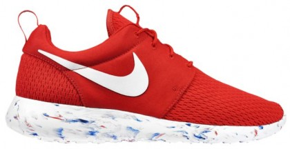 Nike Roshe One Hommes chaussures de course rouge/blanc PQV462