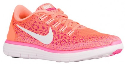 Nike Free RN Distance Femmes chaussures de course Orange/rose PGH264