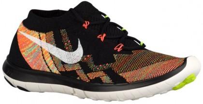 Nike Free 3.0 Flyknit Femmes chaussures de sport noir/Orange CFS088