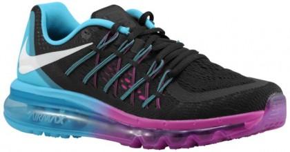 Nike Air Max 2015 Femmes chaussures de course noir/bleu clair AYJ564
