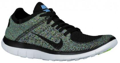 Nike Free 4.0 Flyknit Femmes chaussures de sport noir/bleu clair NKK654
