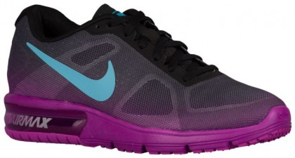 Nike Air Max Sequent Femmes chaussures de sport noir/violet AZD507
