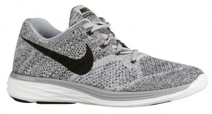 Nike Flyknit Lunar 3 Hommes chaussures de sport gris/blanc LUJ181