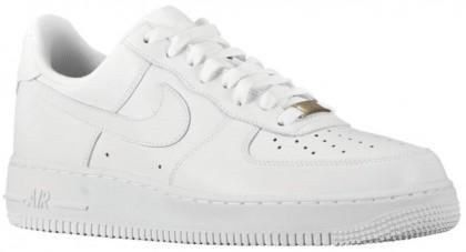 Nike Air Force 1 07 LE Low Leather Femmes baskets Tout blanc/blanc IKU213