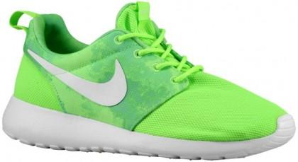 Nike Roshe One Print Femmes sneakers vert clair/blanc HUS518