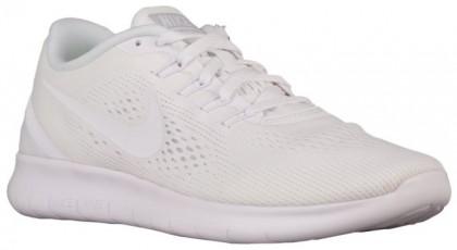 Nike Free RN Femmes chaussures de sport Tout blanc/blanc VCS687